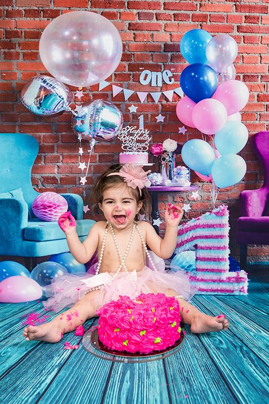 Smashing the cake photography